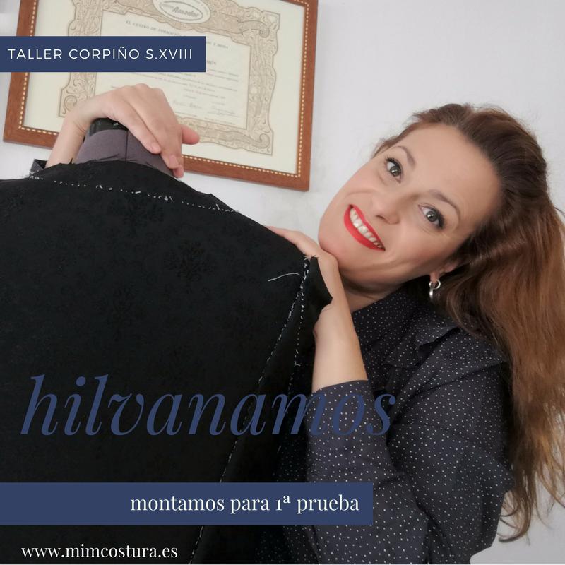 indumentaria valenciana confección de un corpiño