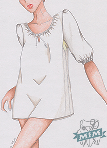 Camisa de mujer del siglo XVIII