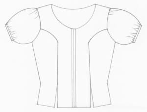 Indumentaria valenciana. Diseño técnico del corpiño del s. XIX