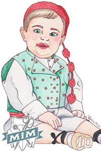 Chaleco para niño del siglo XVIII