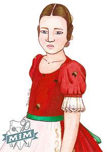 Jubón del siglo XIX para niña