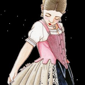 corset o justillo para niña de labradora - PATRONES- indumentaria regional
