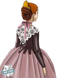 Jubón para niña del s. XVIII, CALDERONETA