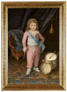 El infante Carlos María Isidro de Borbón vestido de rosa