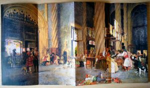 la venta de la seda en la lonja de Valencia, indumentaria tradicional
