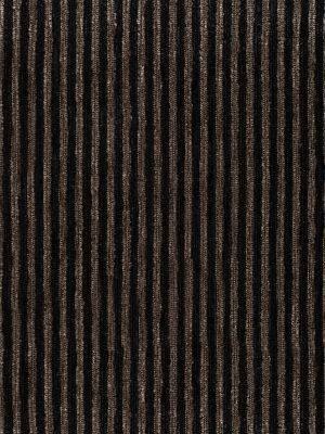 Chenilla listada color negro-marrón medio